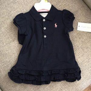 Navy Polo dress/bloomer